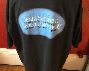 HBO Jerry Seinfeld Last Time Standup Special T-Shirt XL 1998 90's