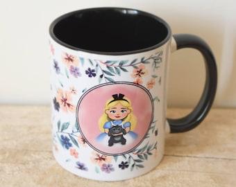 Mug-Alice in Wonderland - black