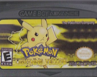 Gameboy Advance Game Boy GBA Pokemon Lightning Yellow Customized