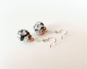 earring, glass, glass, black and white jewellery jewelry