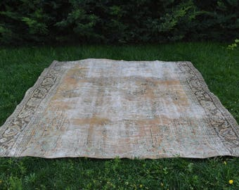 Free Shipping Large Rug Turkish Rug tapis antique 5.2 x 8.8 feet Home Decor Oushak Rug Bohemian Aztec Rug Boho Rug Ethnic Rug Wool Rug DC521