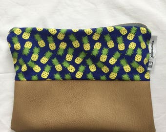 Two Tone Clutch (Pineapple)