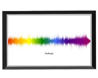 Fluffhead Soundwave Print (Rainbow) - Phish