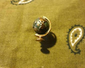 Vintage Globe Tie Pin