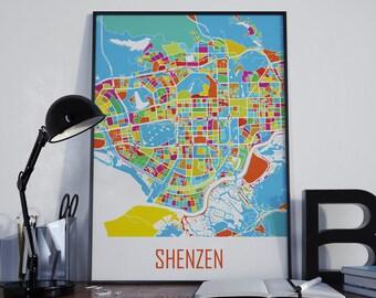 Shenzhen Map Shenzhen Watercolor Shenzhen City Map Shenzhen Street Map Shenzhen Travel Map Shenzhen Map Poster Shenzhen Map Photo Shenzhen