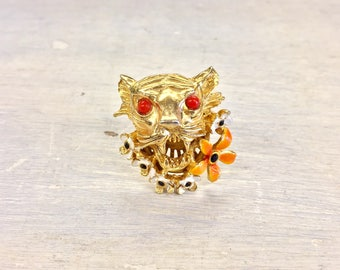 Vintage Costume Jewelry   Judith McCann Jewelry   Judith McCann   Vintage Jewelry   Costume Jewelry   Vintage Ring   Gold Toned Ring