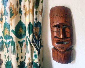 Wooden African Mask, Vintage African Decor // SALE