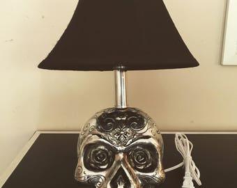 Skull lamp etsy skull lamp aloadofball Gallery