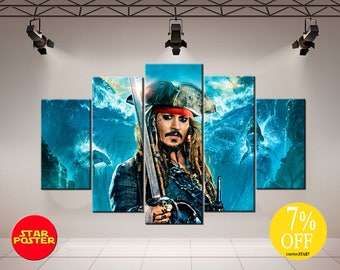 Jack Sparrow, Captain Jack Sparrow, Pirates of the Caribbean, Pirates canvas, Jack Sparrow canvas, Jack Sparrow art, Jack Sparrow print