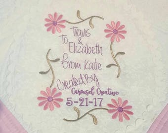 Personalized Baby Quilt Label, Embroidered Baby Quilt Label, Custom  Baby Blanket Label, Baby Gift for Girl Boy, Custom Quilt Label Design