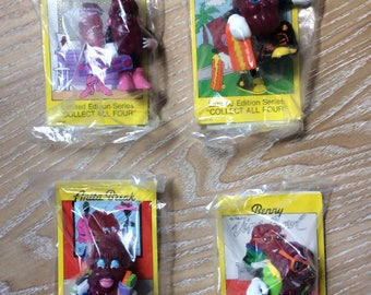 Set of 4 Vintage California Raisins Figurines