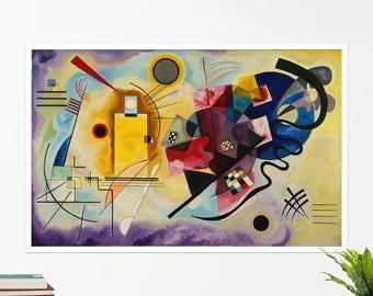 """Vasily Kandinsky, """"Yellow-Red-Blue"""". Art poster, art print, rolled canvas, art canvas, wall art, wall decor"""