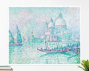 "Paul Signac, ""Venice, La Salute"". Art poster, art print, rolled canvas, art canvas, wall art, wall decor"