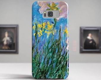 "Claude Monet, ""Iris Jaunes"". LG, Samsung, etc phone case.Samsung Galaxy S7 Case LG G6 case Huawei P10 Case Galaxy J5 2017 Case and more."