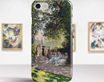 """Claude Monet, """"The Parc Monceau"""". iPhone 7 Case Art iPhone 6 Case iPhone 8 Plus Case and more. iPhone 7 TOUGH cases. Art iphone cases."""