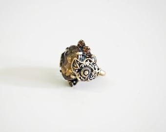Brass jewelry statement ring.