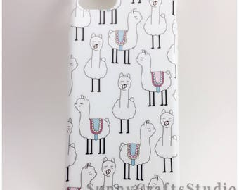 Llama iphone case, iphone 7 case, iphone 7plus case, silicone llama iphone case