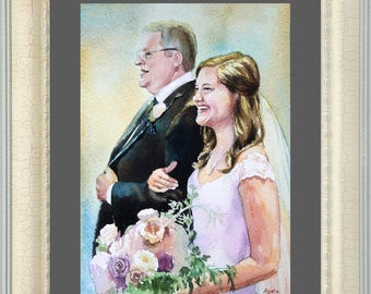 Custom Wedding portrait Family portrait Couple Portrait Custom painting from photos Baby Portrait wedding portrait family portraits