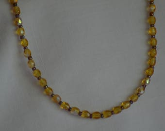 Yellow Glass Choker