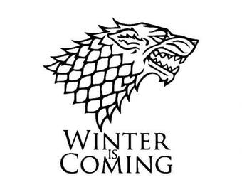 Winter is Coming Game of Thrones Horror Vinyl Car Decal Bumper Window Sticker Any Color Multiple Sizes