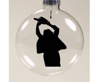 Leatherface Texas Chainsaw Massacre Christmas Ornament Glass Disc Holiday Horror Merch Massacre