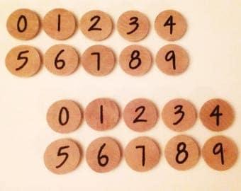 Number magnets (2 sets)