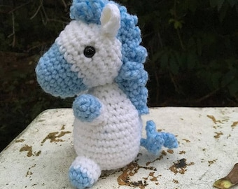 Cloud the Horse- Crochet Horse/Unicorn/Pegasus Amigurumi Stuffed Animal Toy