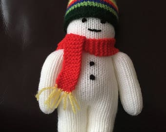 Hand knitted Snowman toy