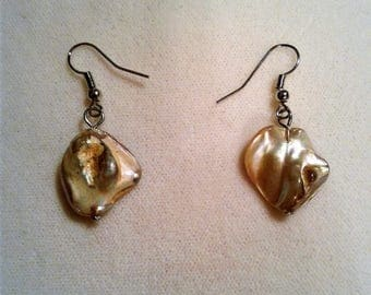 Pearl Marble Stone Earrings #162