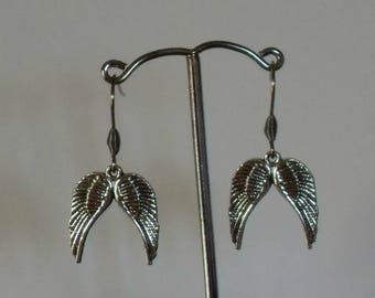 Angel Wing Earrings,Silver Angel Wing Earrings,Silver Angel Wing Jewelry,Angel Gifts