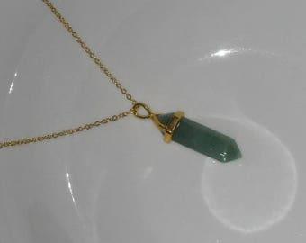 Green Adventurine Necklace, Green Adventurine Jewelry, Adventurine Necklace, Adventurine Jewelry, Adventurine Pendant, Green Lover Gift