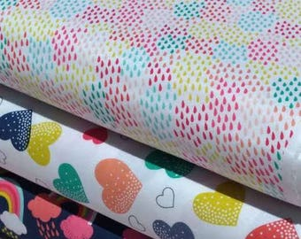 FREE GIFT with Purchase - Andover Fantasy Raindrops/White/Cotton/Fabrics/ Sewing/ Quilting/ Quilt