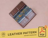 Leather Long Wallet \\ Template Pattern PDF \\  Leather Crafting \\ PDF Pattern \\ Leathercraft Pattern \\ Leather Pattern \\ DIY pattern