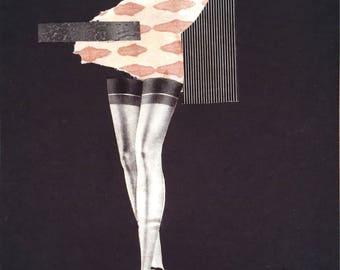 Paper Collage - Vintage Magazines