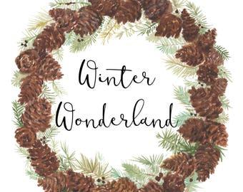 Winter Wonderland Pinecone Wreath