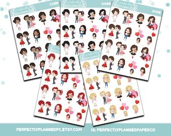 038 | Romance Sampler Sheet | Planner Girls Planner Stickers