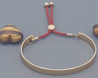 Flat Gold Slider Bracelet