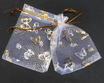 18 Organza Bags, Clear Organza Bags, Large Pouch, Party Favor Bags, Jewelry Bags, Mesh Bags, Wedding Bags, 12x8cm