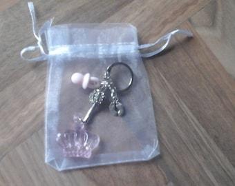 pink crown keyring/pram charm