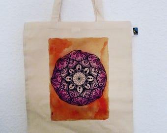 Canvas tote bag - Mandala print by Bibasarts