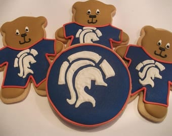 Titans Pajama Bears |Shaler area school logo Cookie favors | mascot | Teddy Bear cookies