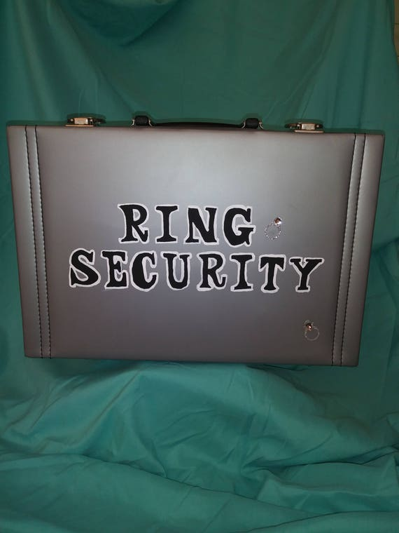 Ring Bearer Brief Case Ring Security
