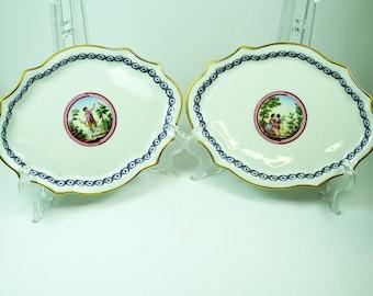 Richard Ginori Plates with Classical Decoration