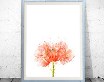 Poppy Print, Flower Illustration, Botanical Art, Poppy Art, Home Decor, Giclee Print, Flower Print, Poppy Decor, Nursery Kitchen Art