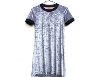 FEELINKITA velvet T-shirt dress