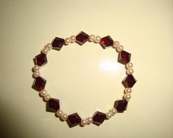 Red Swarovski bracelet GRA