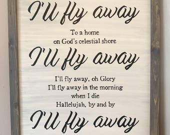 I'll Fly Away Memorial Art, customized