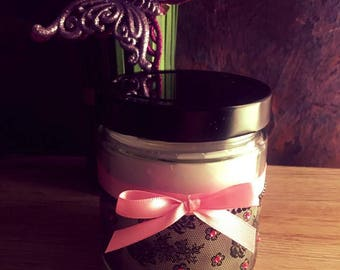 Wood Wick Candle/Beautiful Candle with Lace/13.8 oz