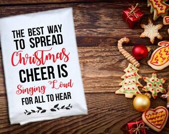 Dish Towel / Bar Towel / Christmas towel / Christmas Gift / Housewarming / Elf / Wedding Gift / Engagement Gift / Christmas / Hostess Gift