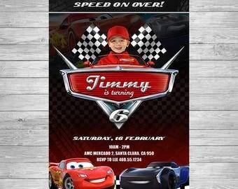 Disney Cars Birthday Invitation, Cars Party Invite, Lightning McQueen Birthday Invitation, Disney Cars Printable Invite, Cars Birthday Party